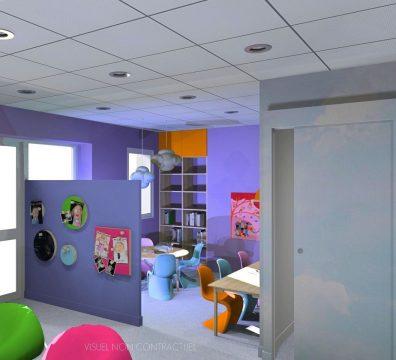 agencement et décoration d'un centre d'autiste
