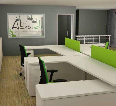 agencement et mobilier d'un bureau pour professionnels